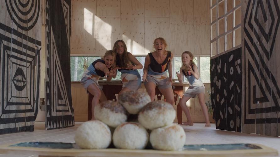 Sommerparadoks:   Et sommerhus omgivet af skov danner en klassisk, idyllisk skandinavisk ramme om historien. Her udspilles et mindre familiedrama, hvor tre generationer af kvinder omhyggeligt forbereder og udfører en familietradition i form af en kunstfærdig middag. Stemningen er anspændt på grund af deltagernes forskellige engagement i forberedelsen. Still fra filmen