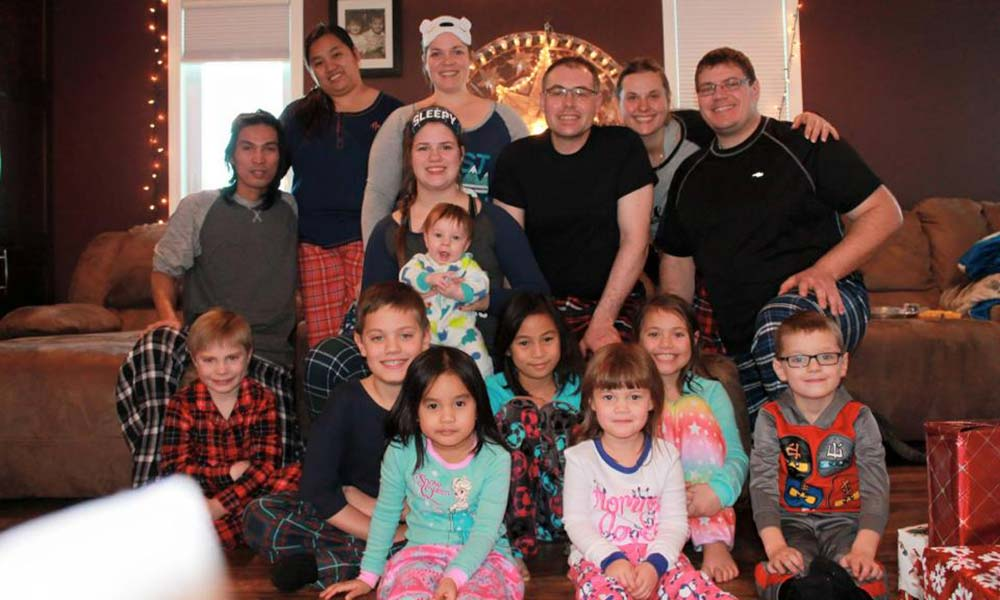 Christmas morning with the whole family.