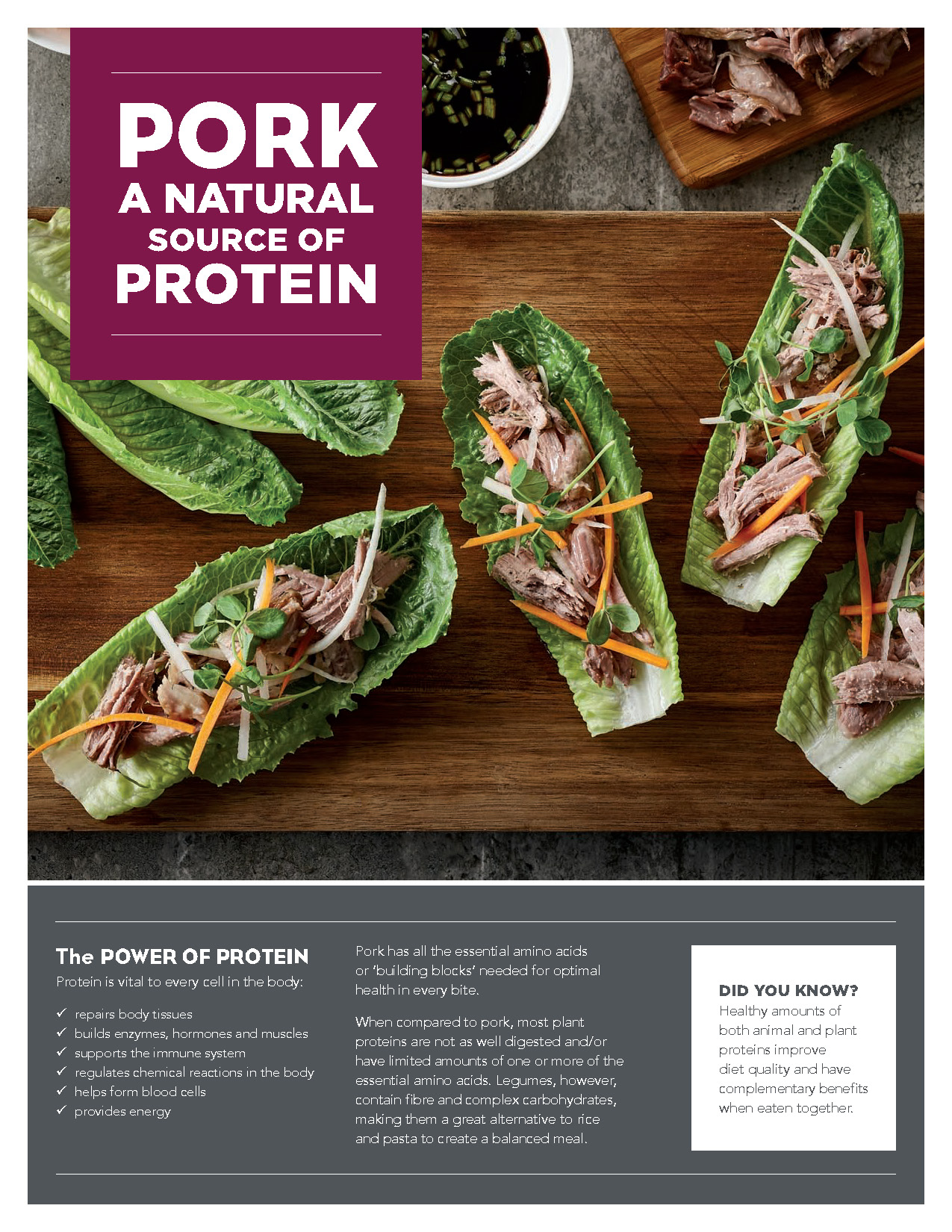 New! Nutrition Resource - Pork a Natural Source of Protein Read More