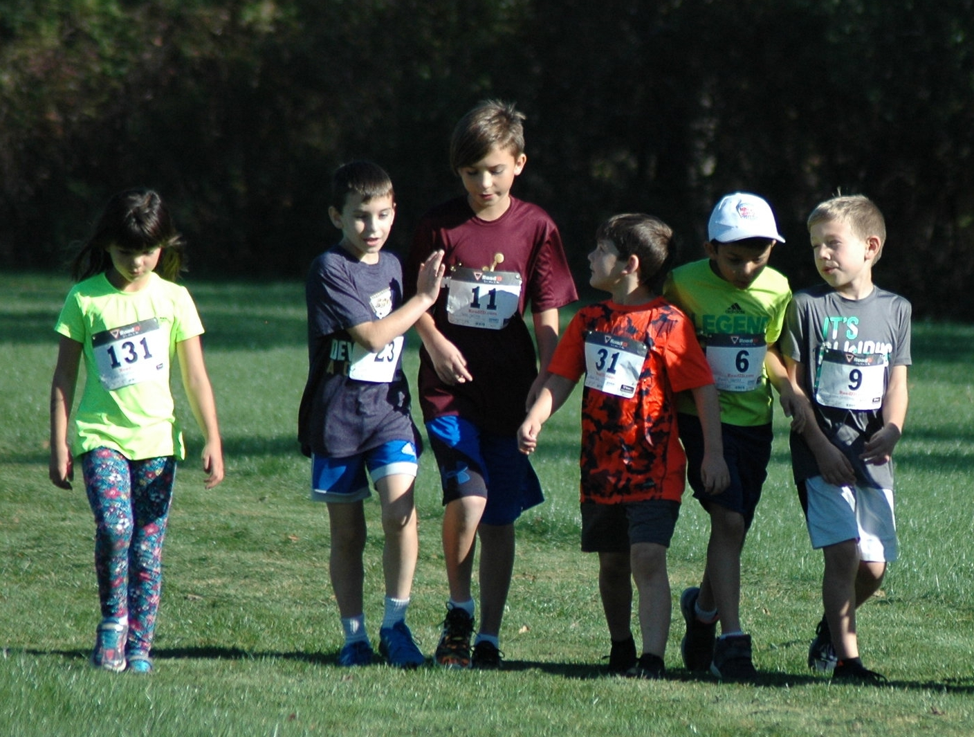 Our young runners support each other!