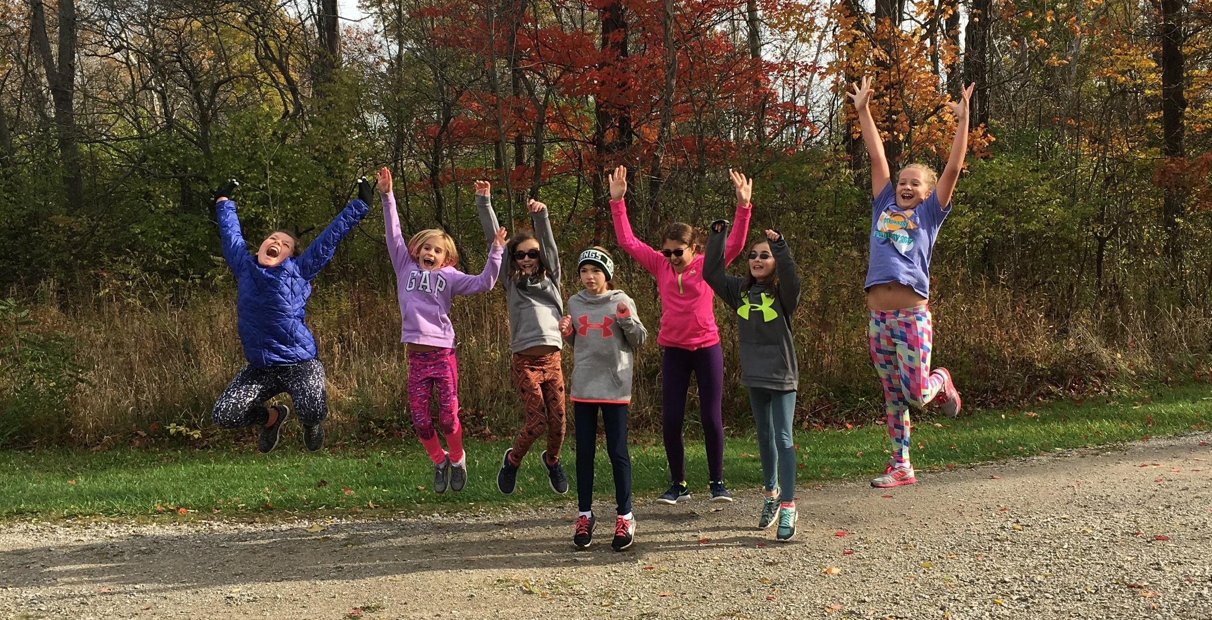 After coaching a small group of girls in the awesome Girls on the Run Program, we decided that there was a greater need for expansion and inclusion.  We hope to grow into a multi community youth running program with shared curriculum, training plans, and enthusiasm for running.