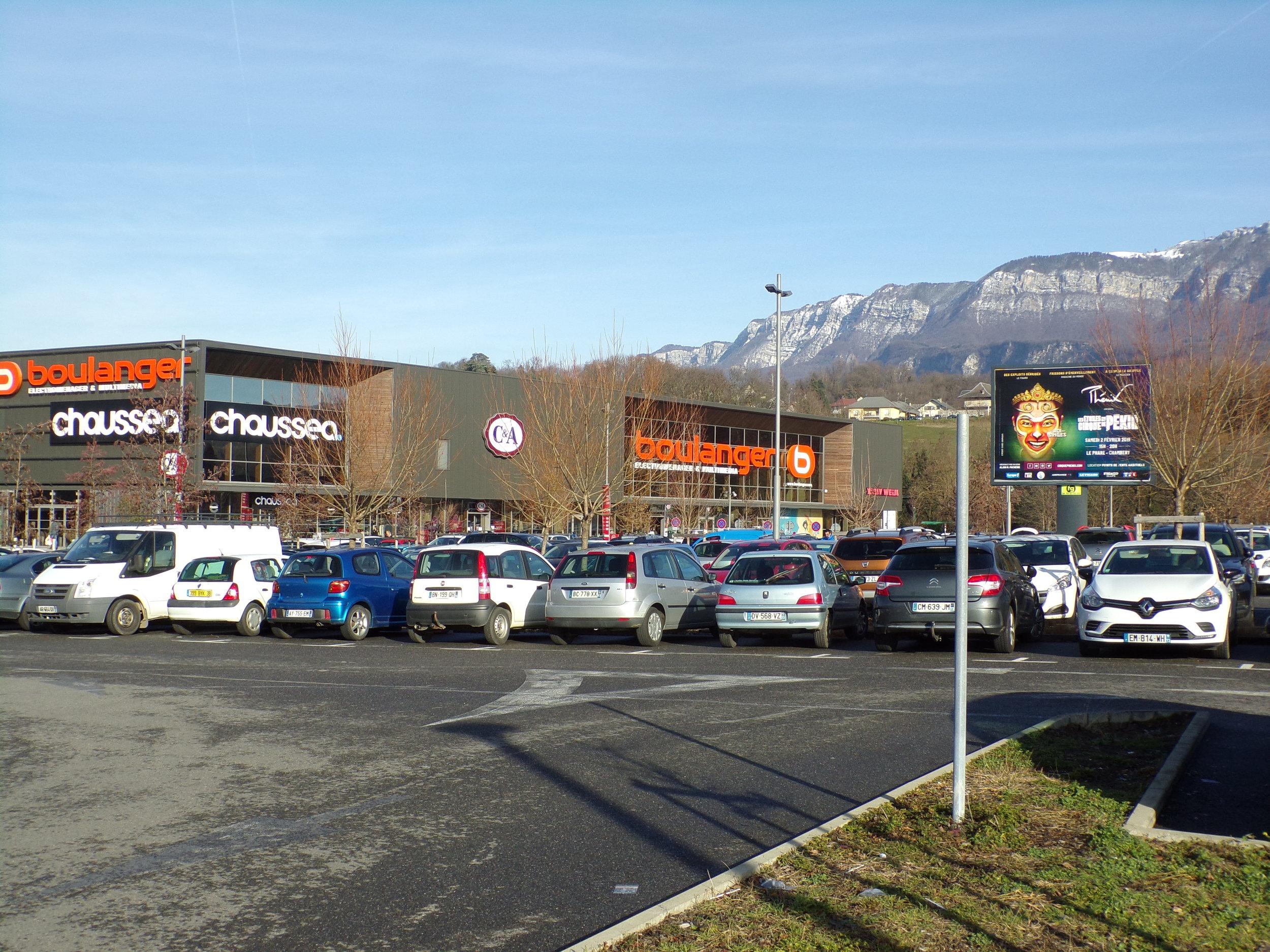 Zone commerciale de Chamnord, entrée de ville de Chambéry : espace en devenir