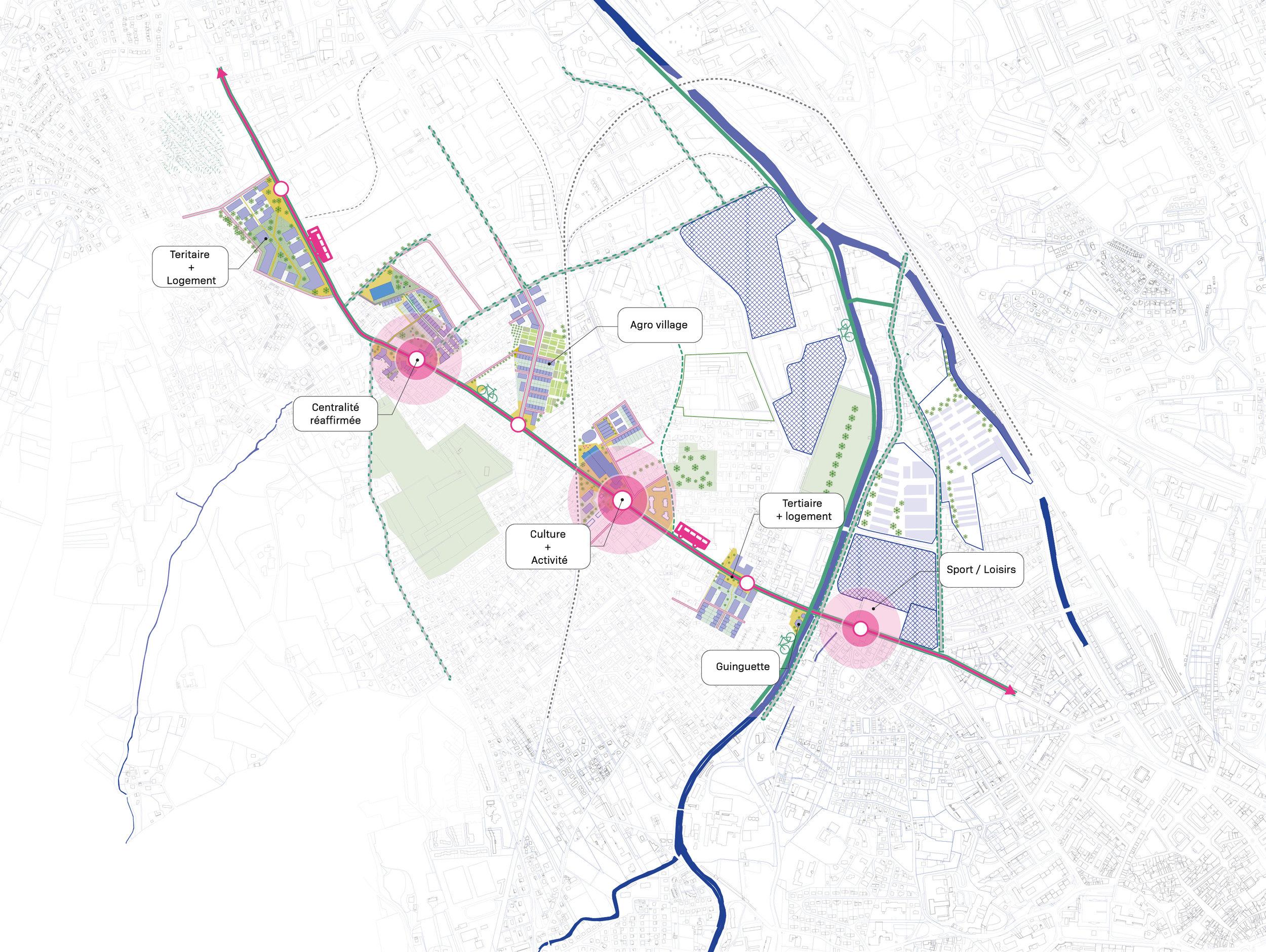 Une avenue au service de la ville productive : mise en valeur et développement de programme d'activités innovants.