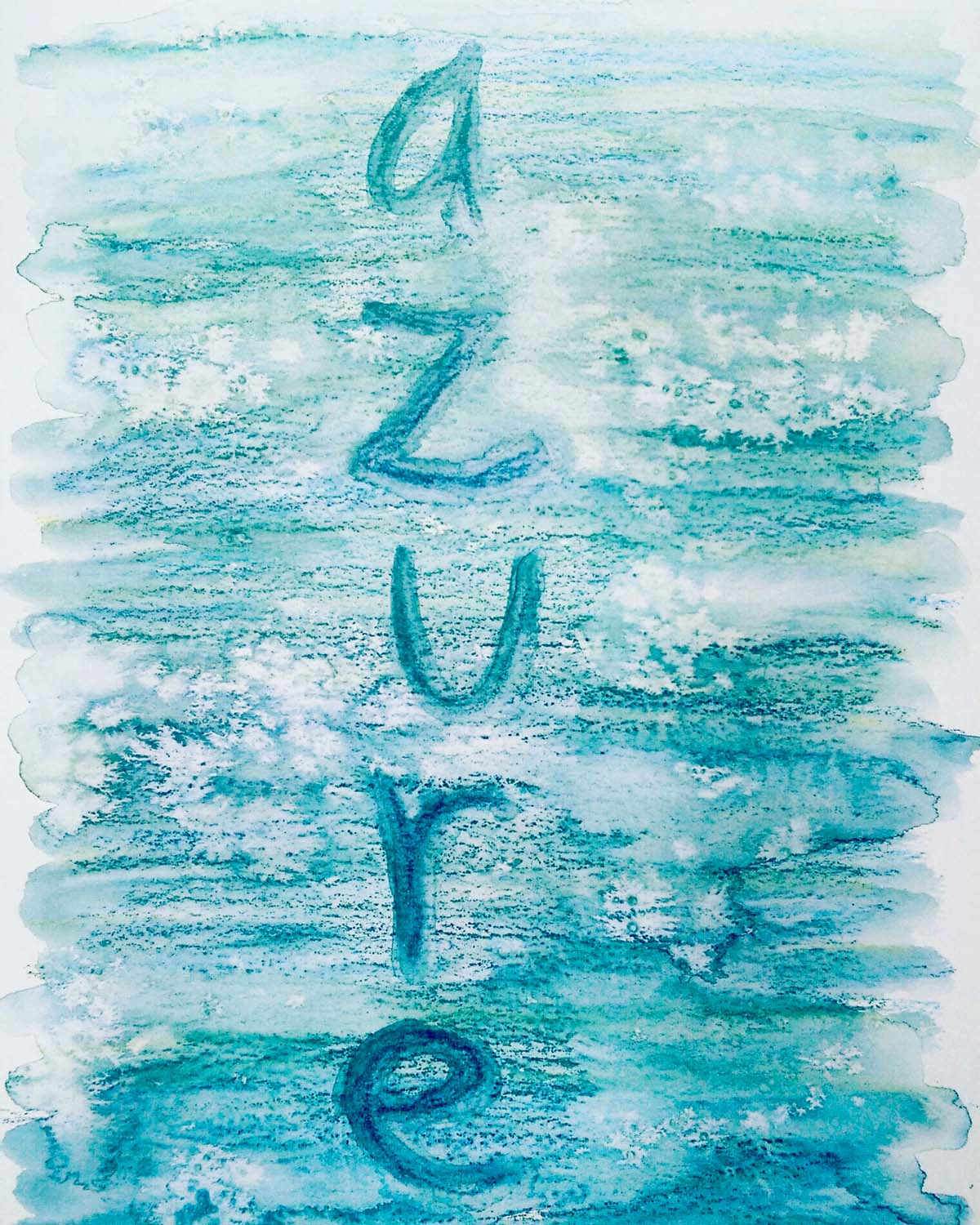 'Azure' in watercolour