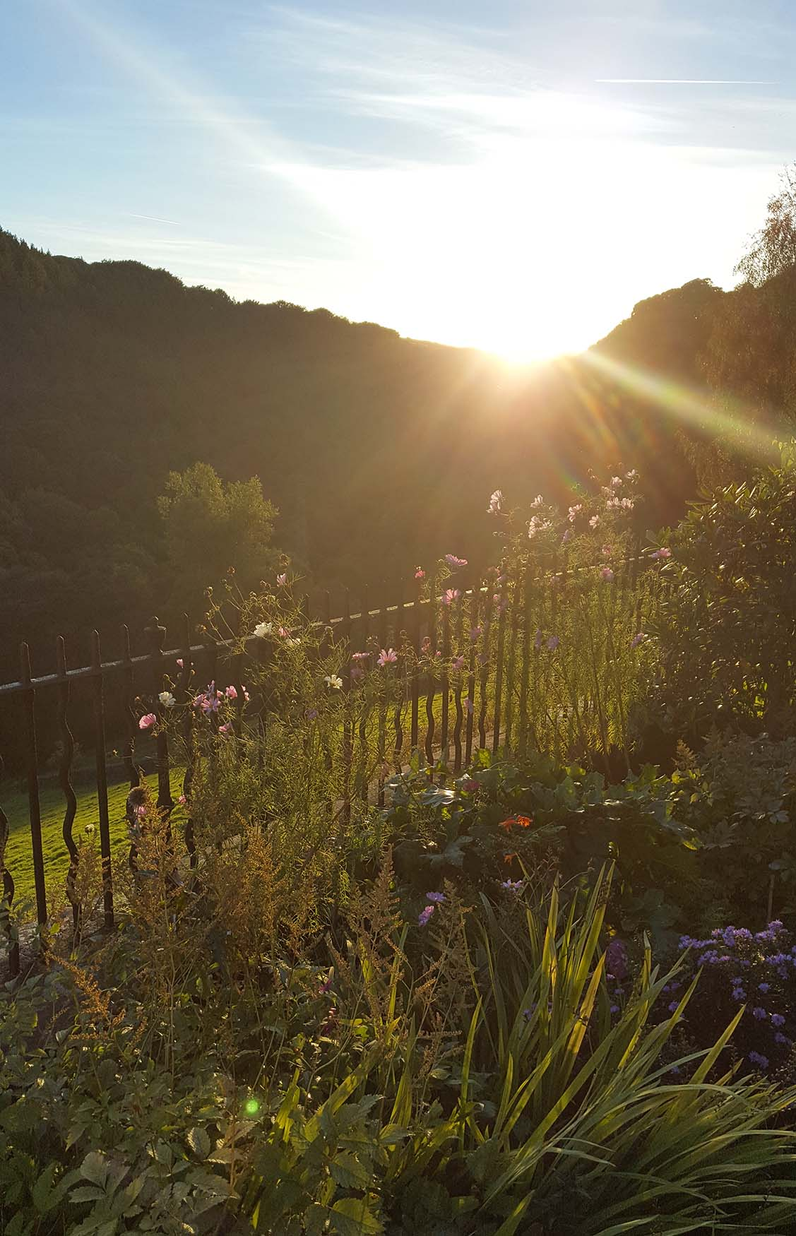 Sunset at Lumb Bank