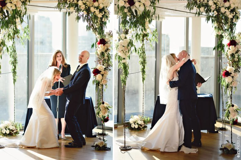 Shana and Jim wedding vows, The Rooftop @ Manny Cantor Center. Photography: Ein Photography and Design