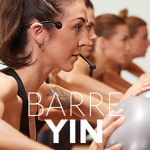 BARRE YINA 75 minute workout experience, 60:40 Barre Yin class complimented by a candlelight setting. -