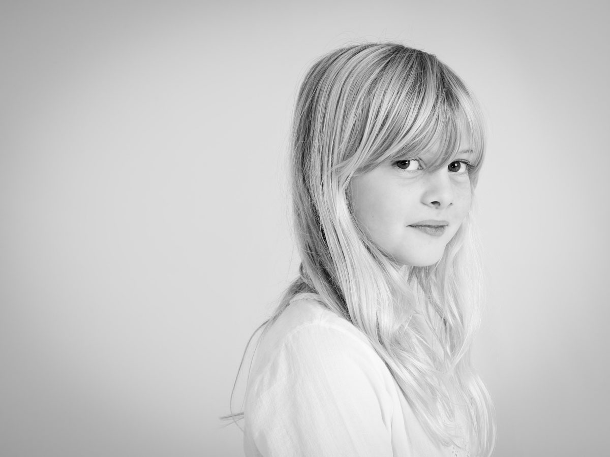Portrait photography of a blonde girl
