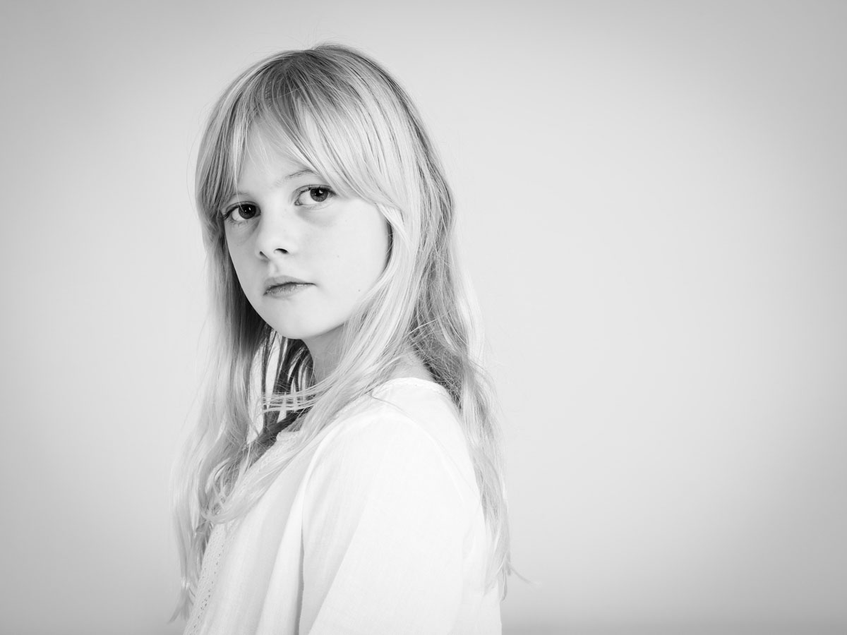 Blonde girl portrait photography