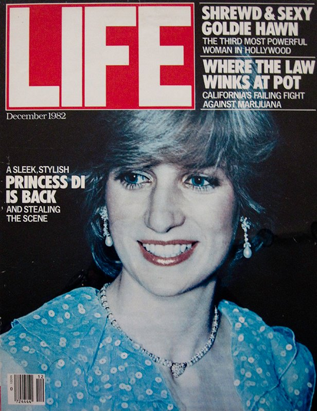 Diana, Princess of Wales, Life magazine cover, Nousha Photography