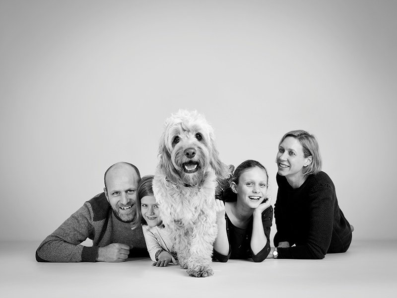 Child and family and animal portraiture Nousha Photography