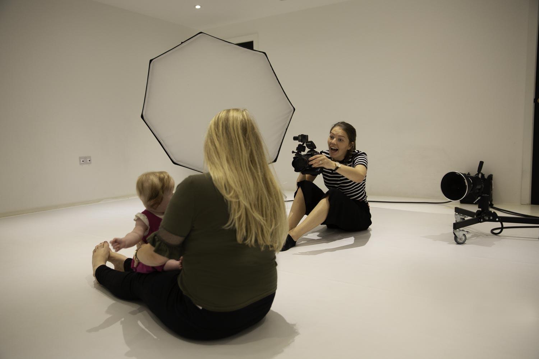 photographer working in the studio
