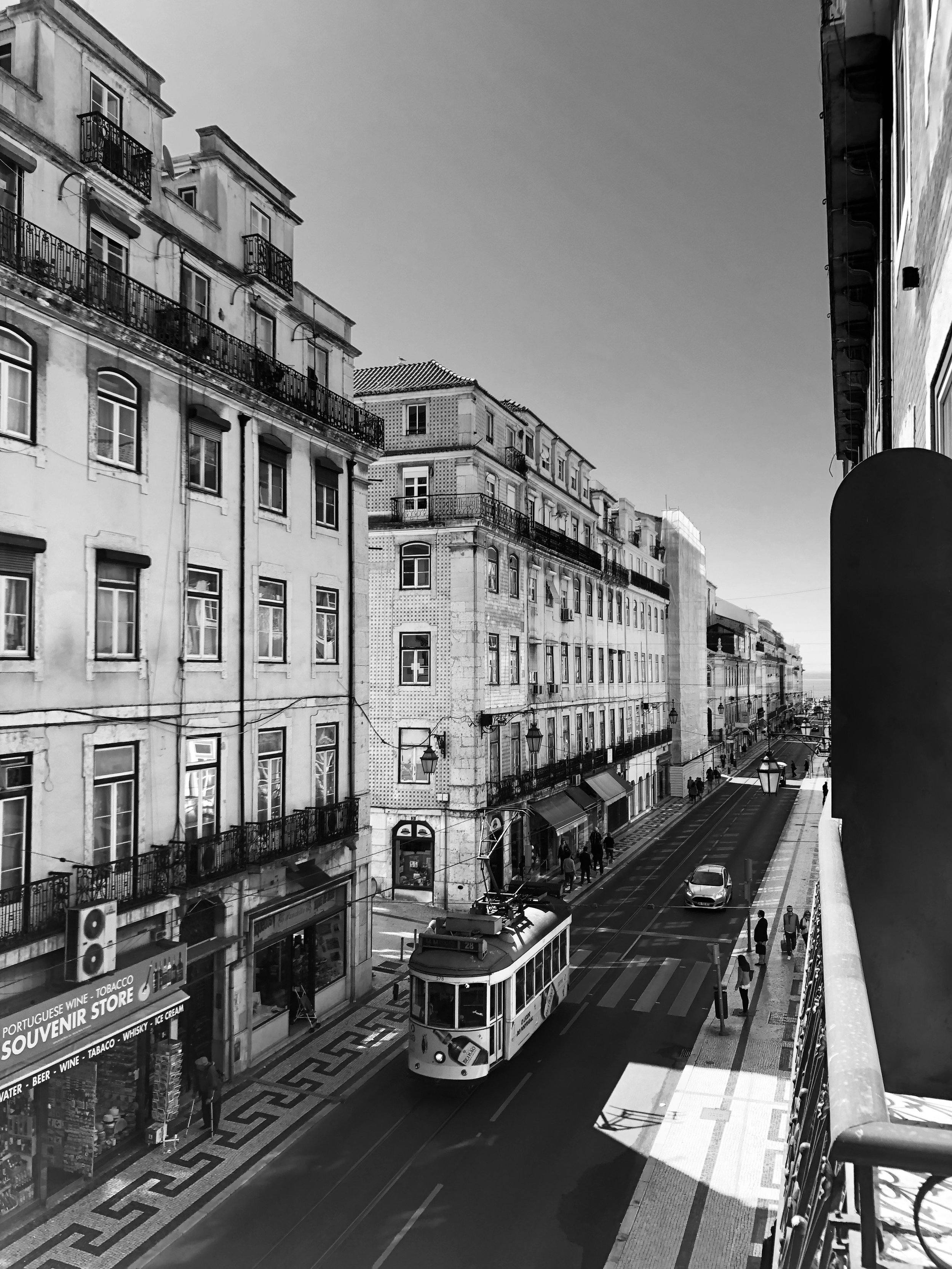 My take on the beautiful boulevards in Lisbon, with a tram of course!