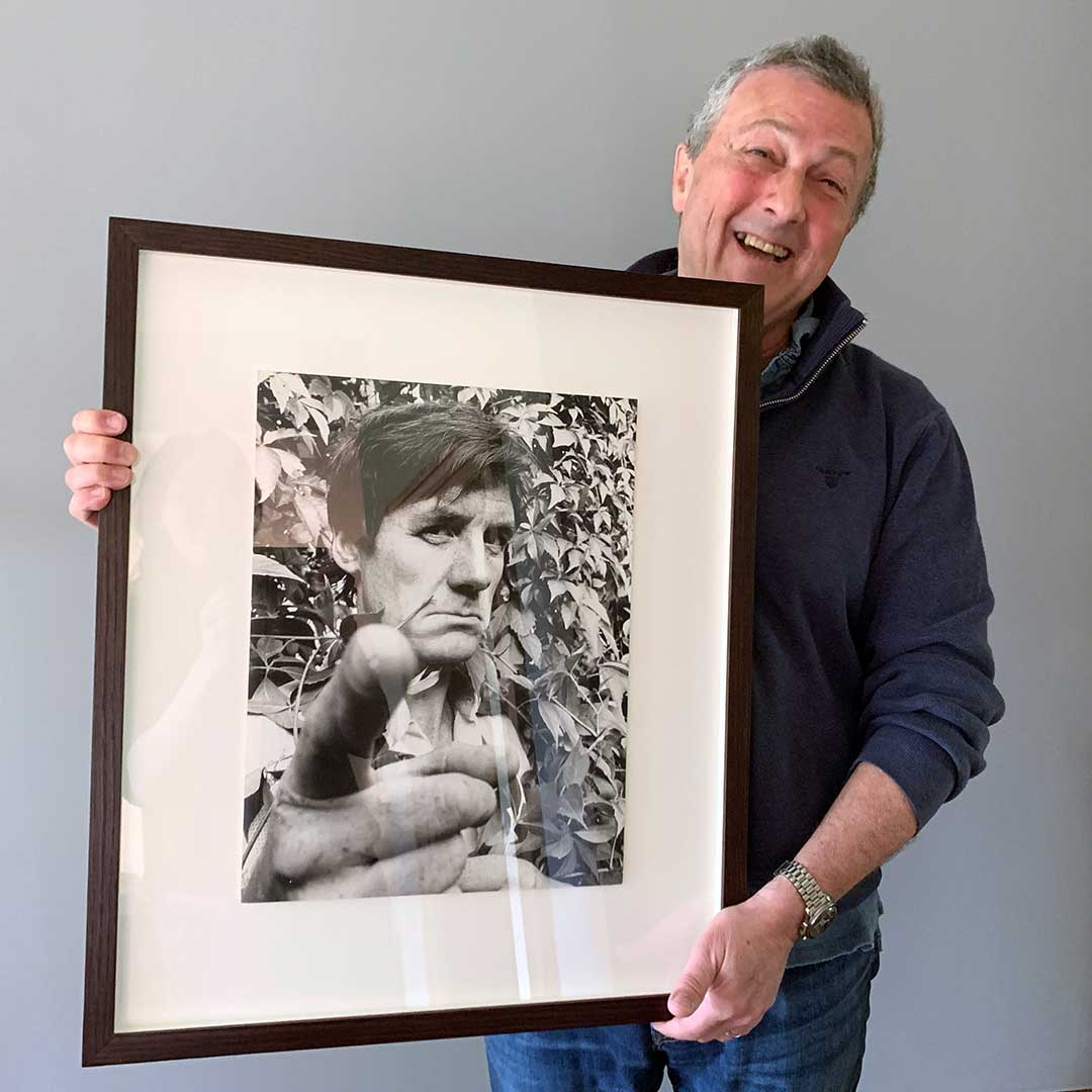 Lionel with his Michael Palin picture