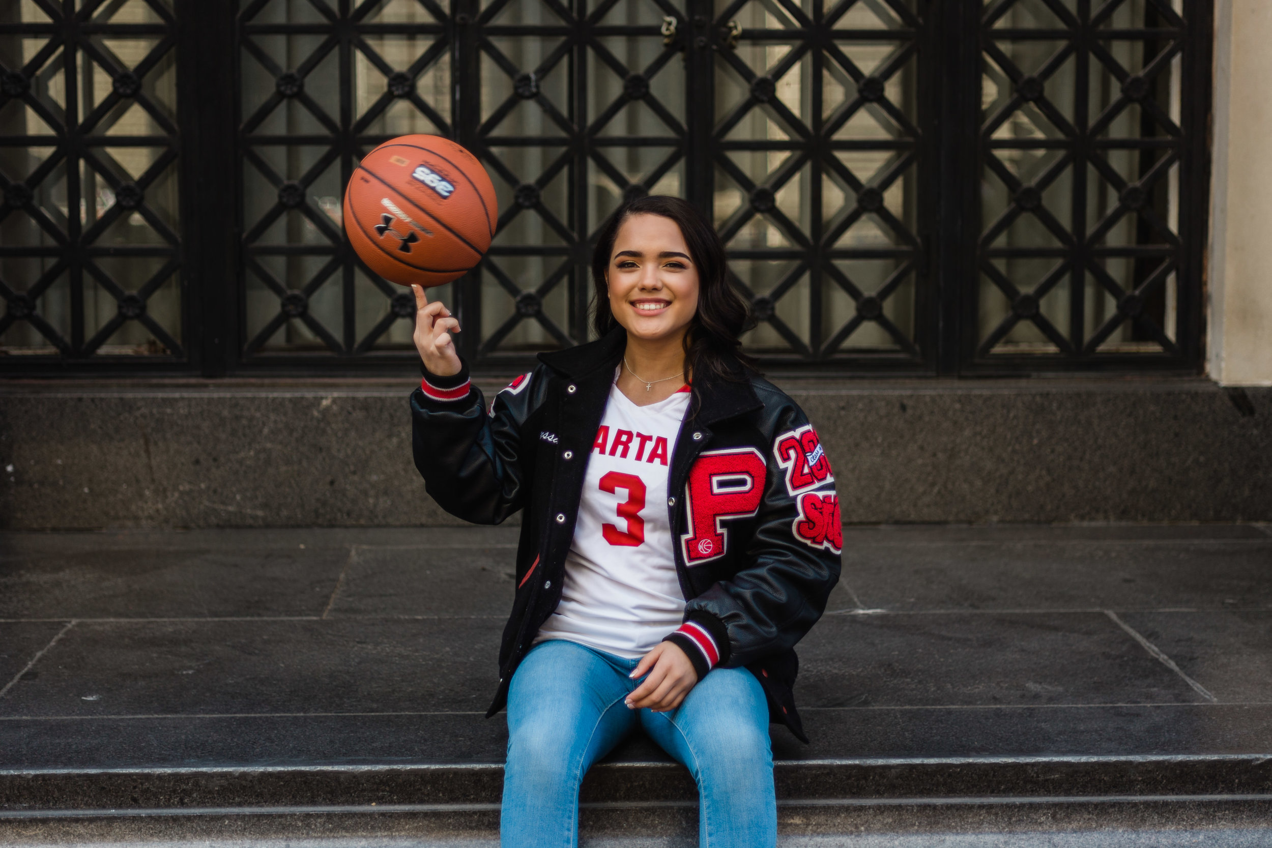 Alyssa incorporated basketball into her shoot because that was her biggest passion in high school.