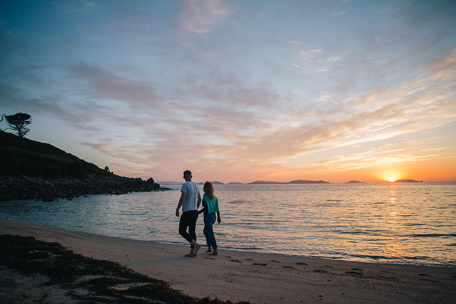 Sunrise over Pelistry Bay, St Mary's, Scilly Isles. Photo courtesy of visit Scilly Isles