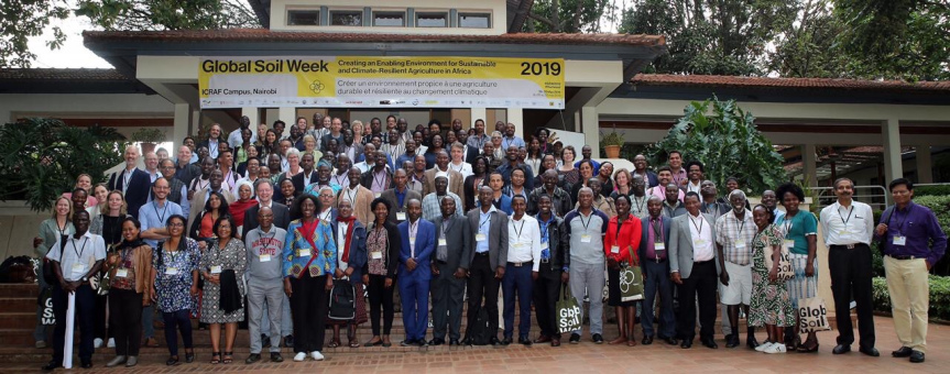 Participants at the Global Soil Week 2019 Photo/IISD