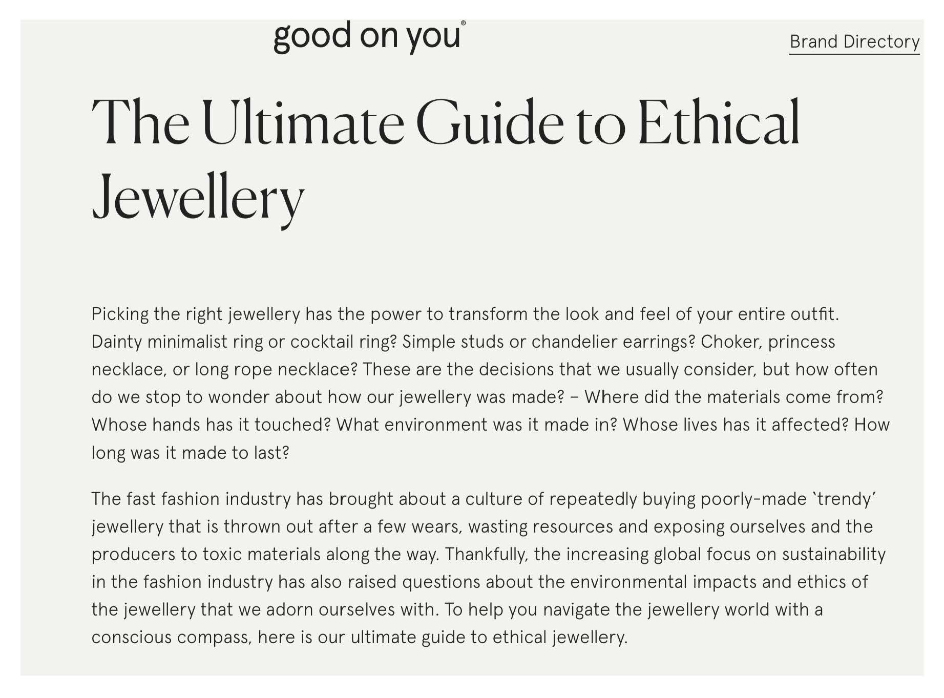 THE ULTIMATE GUIDE TO ETHICAL JEWELLERY