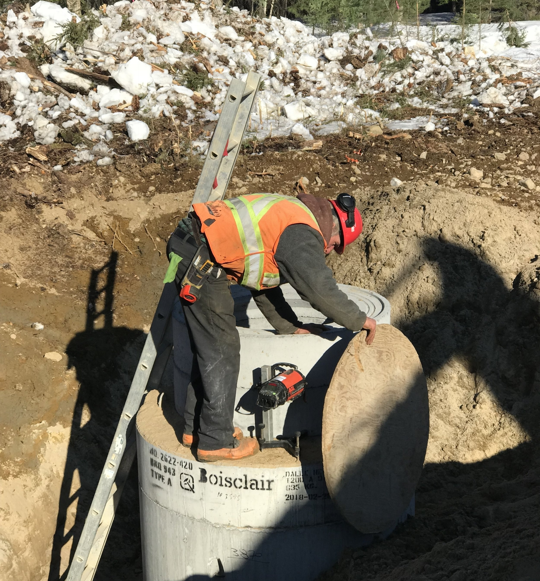 - Storm water manholes were installed in the area adjacent to Building C.