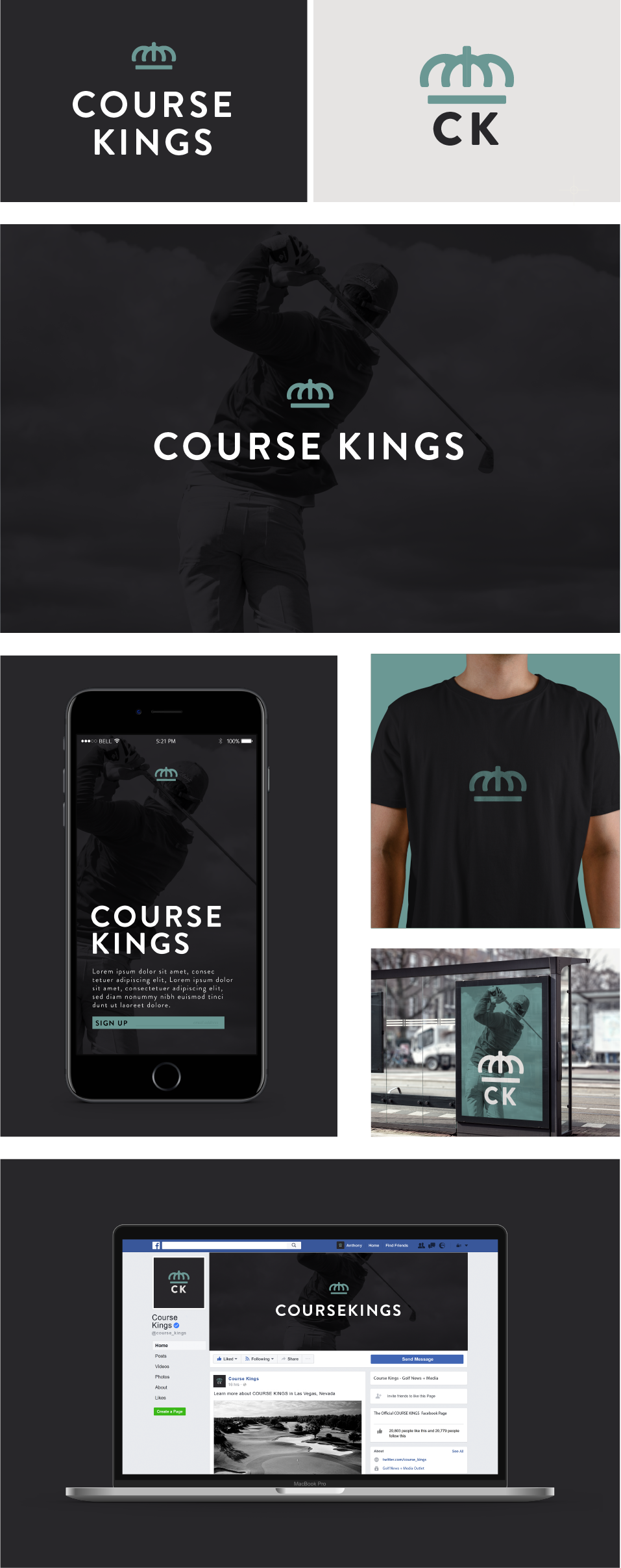 Course Kings Branding Design Draft