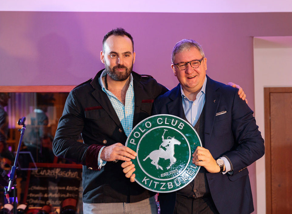 The Polo Club Kitzbühel was officially founded in 2017 by the following founding members; Tito Gaudenzi (CEO and Founder of Lifestyle Companies & Lifestyle Events), Elmar Balster (Managing Director of Lifestyle Companies & Lifestyle Events), Dietmar Heck (Legal Council for Kitzbühel Polo) and Fritz Michelitsch (local cooperation partner for the Kitzbühel Polo event). Furthermore the club has welcomed the following honorary members: Dr. Andreas Insam (CEO of Bendura Bank), Signe Reisch (President of the Tourism Board Kitzbühel), Haddaway (Brand Ambassador for the Polo Club Kitzbühel) and Richard Hauser (CEO and Founder of the Kitzbühel Country Club).  The Polo Club Kitzbühel found its permanent home at the prestigious Kitzbühel Country Club, image above shows the two visionaries Tito Gaudenzi (left) of Kitzbühel Polo, and Richard Hauser (right) of the Kitzbühel Country Club.