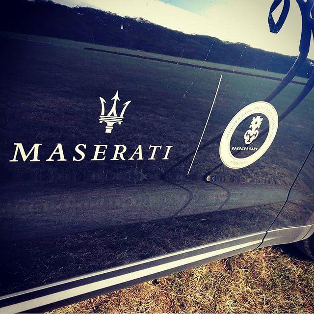 @maserati_de with new logo. Do you like it?  #Kitzpolo #Kitzbuehel #Kitzbühel #Tirol #Maserati #Logo #car #cargram #snowpolo #snow #polo #pololifestyle #polopony #poloplayer #premiumcar
