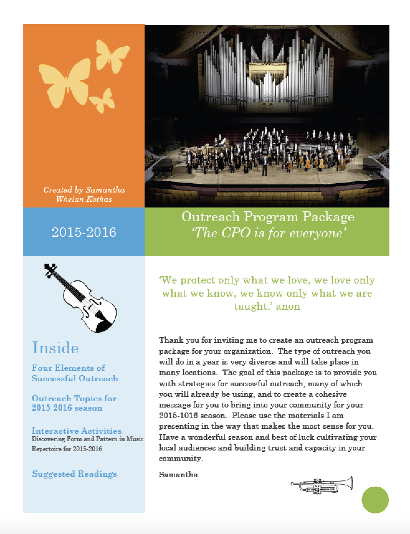 Calgary Philharmonic Orchestra - Musician's Guide