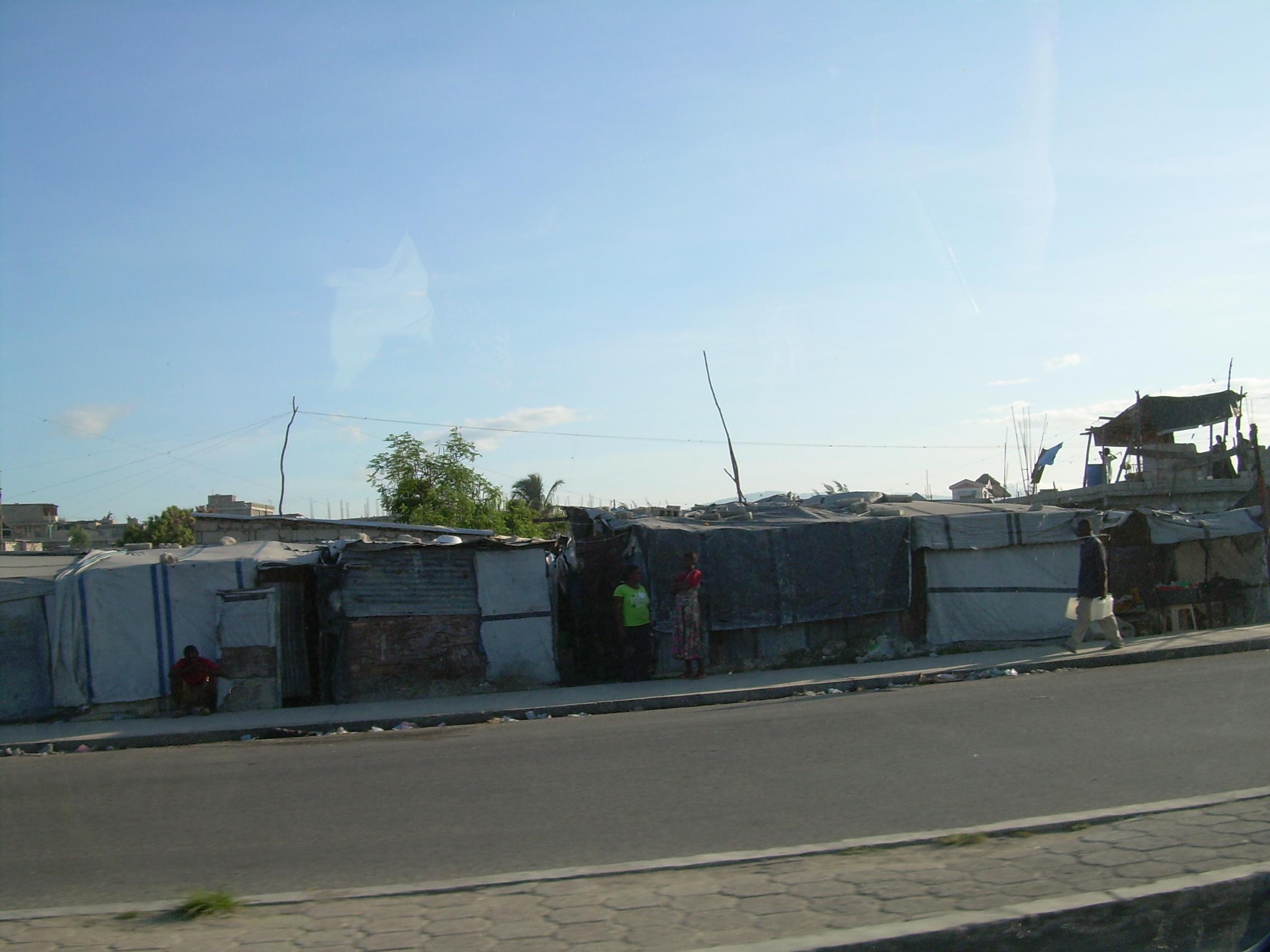 Neighborhood after devastation of storms