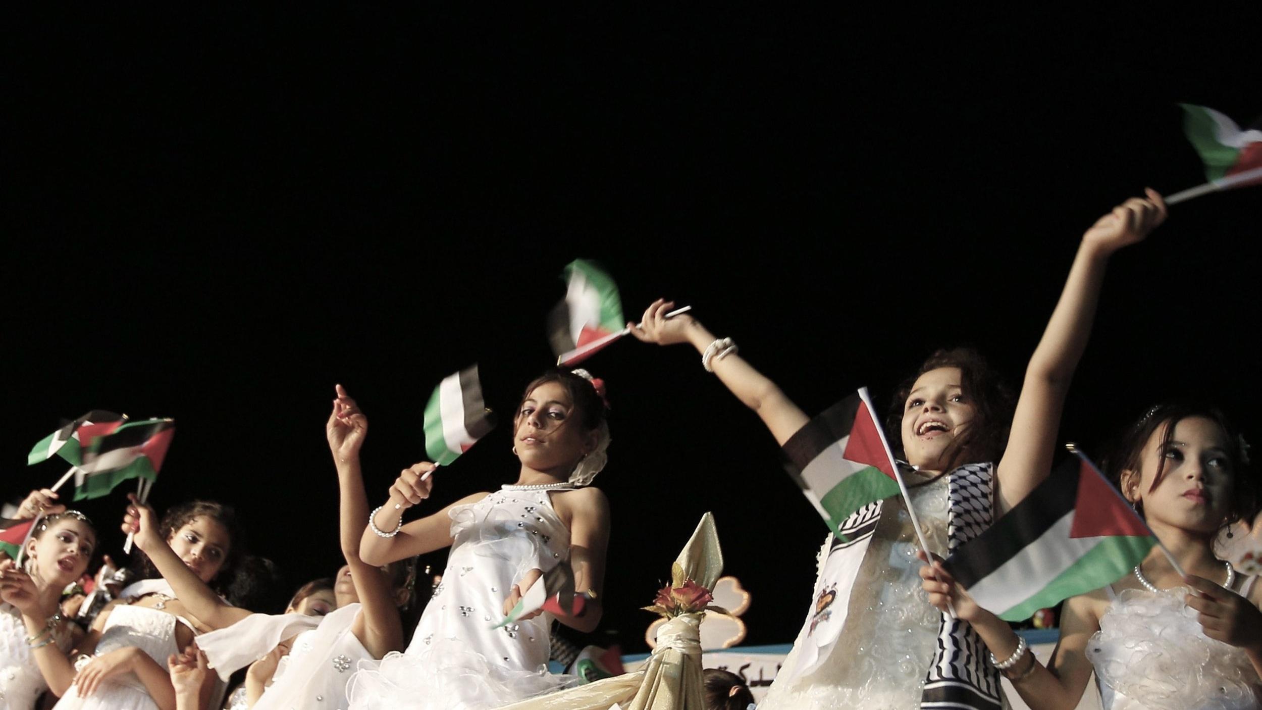 WEDDING BELLS IN GAZA. CREDIT: MOHAMMED SABER/EPA/SHUTTERSTOCK