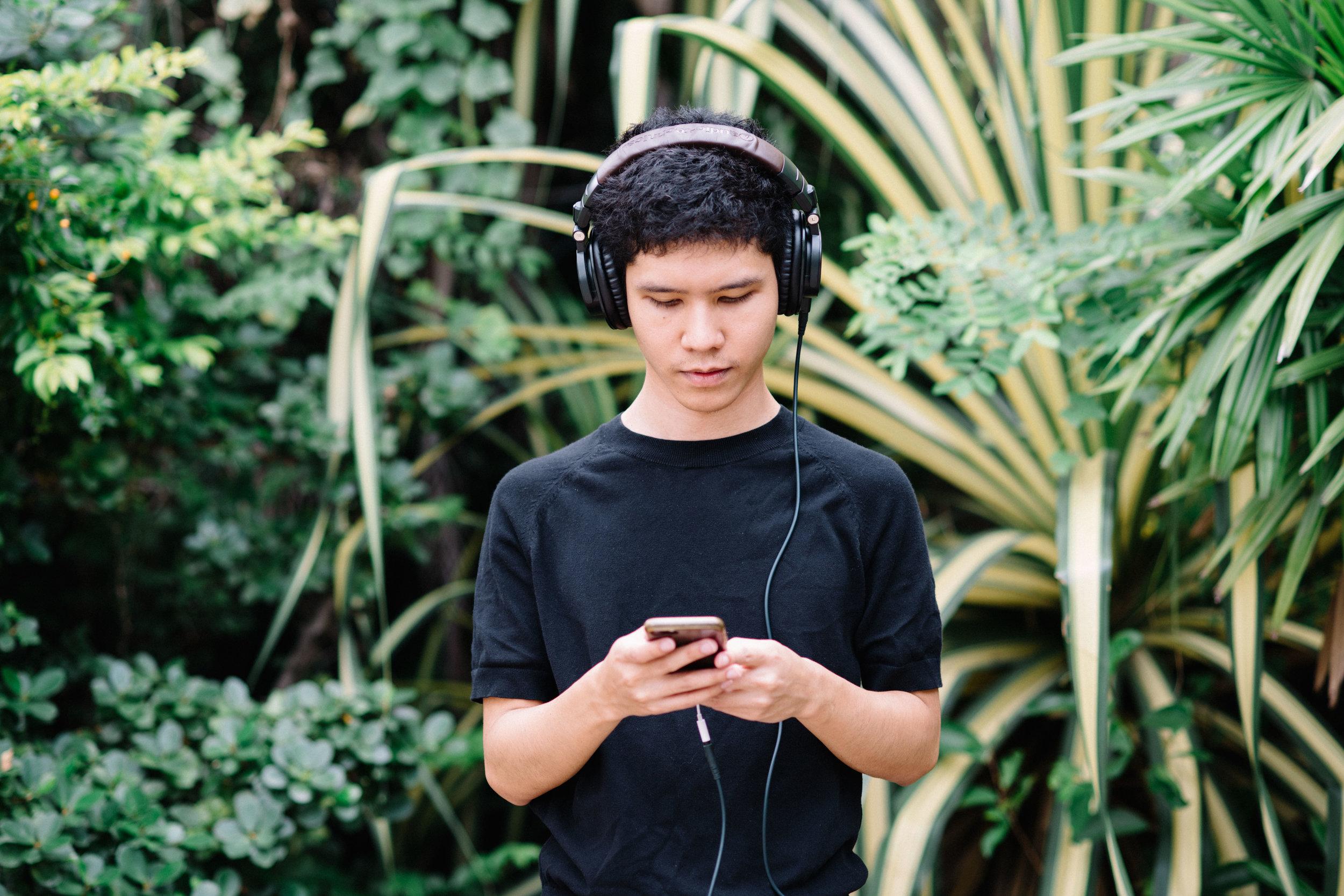 MUSICIAN PLERN PAN PERTH OUTSIDE HIS STUDIO IN BANGKOK. CREDIT: GRAHAM MEYER FOR LURE