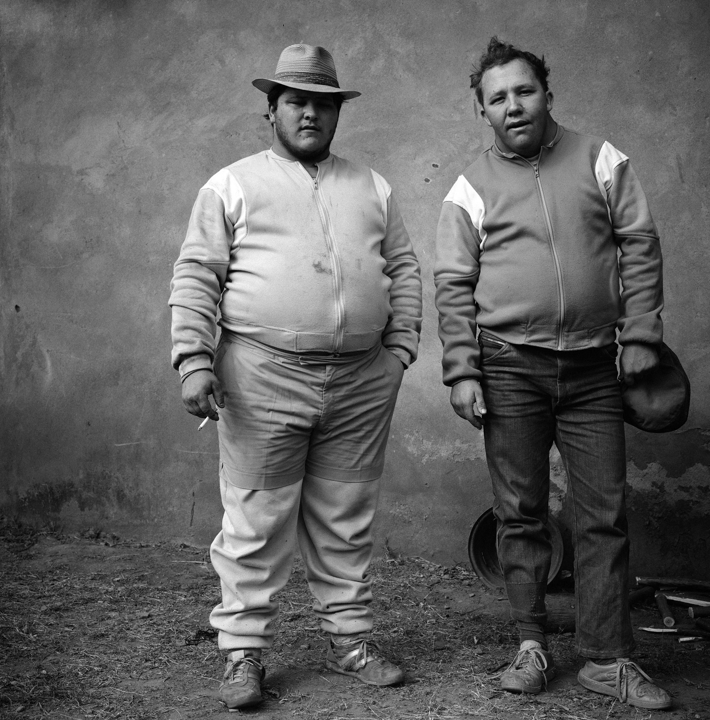 JOHAN AND BERTIE, BROTHERS (1987, WESTERN TRANSVAAL). CREDIT: ROGER BALLEN