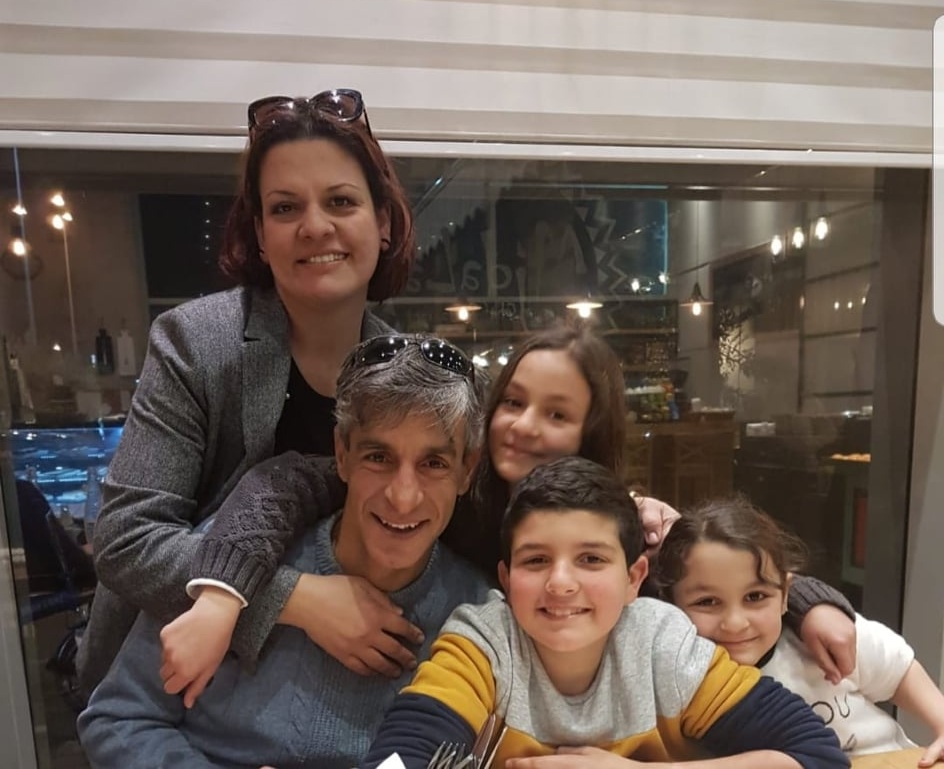 LANA, TAISEER AND THEIR THREE CHILDREN .  CREDIT: TAISEER KHATIB