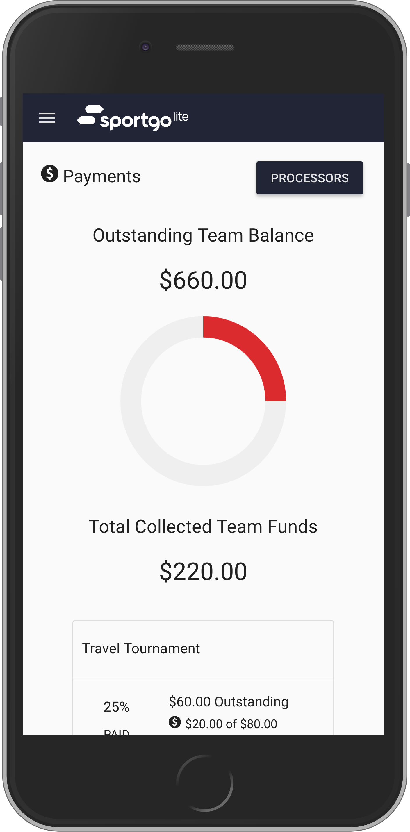 Payment Collection &Tracking - Quickly assign fees, collect and track money from your entire team to avoid last minute payment hassles.