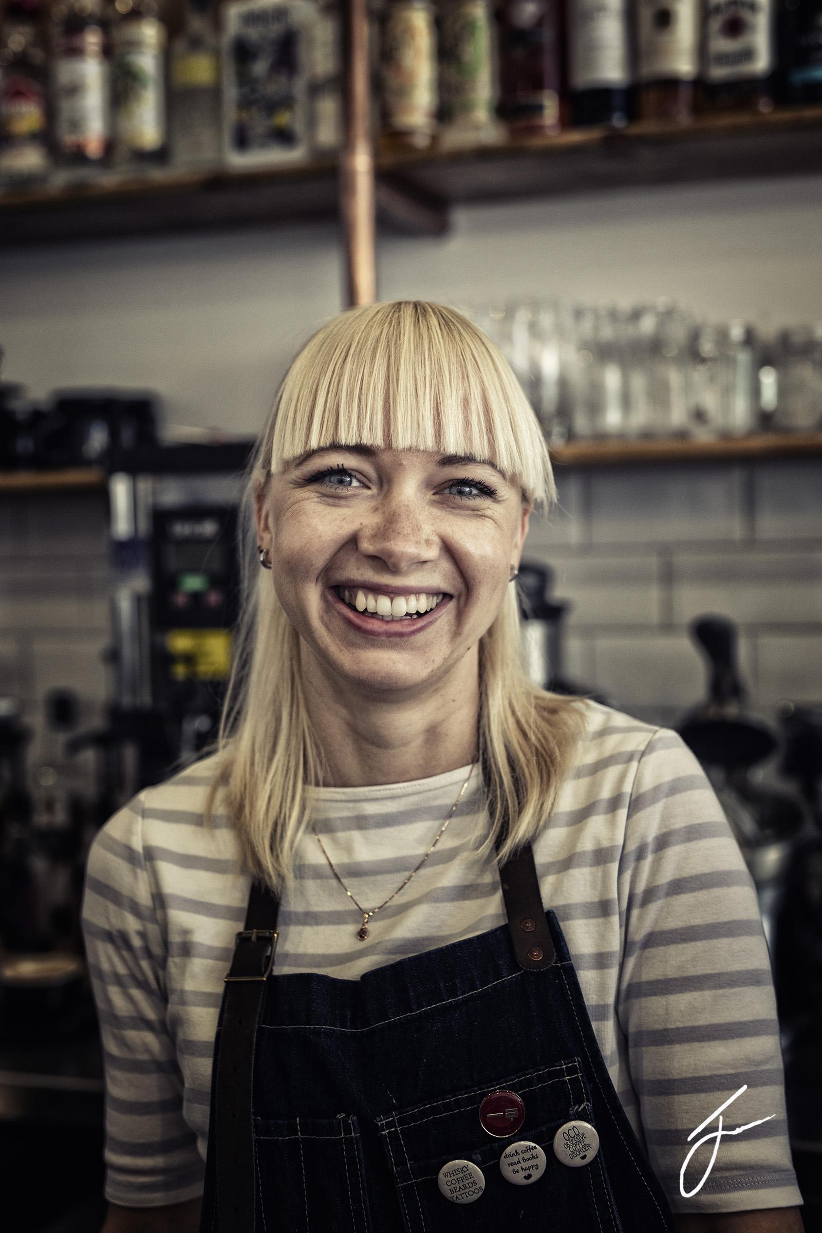 Lana, manager of The Calypso Coffee Company, Torquay. ©Julie Corcoran 2018