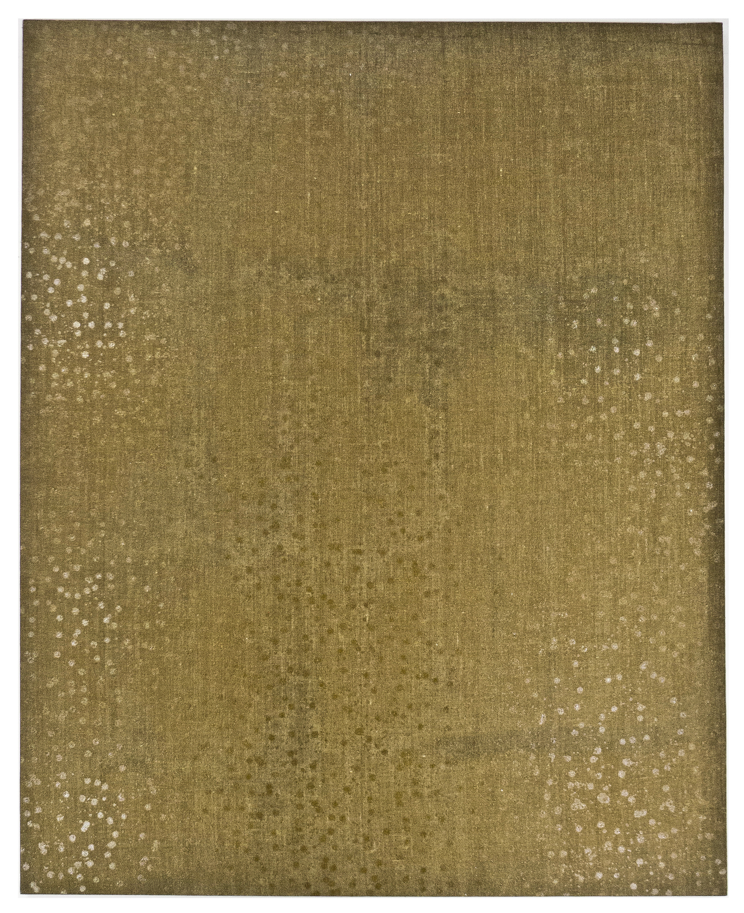 "Ombhro; 1971; Resin/emulsion on unpainted linen; 62 ½ x 50 ½""; Item #255"