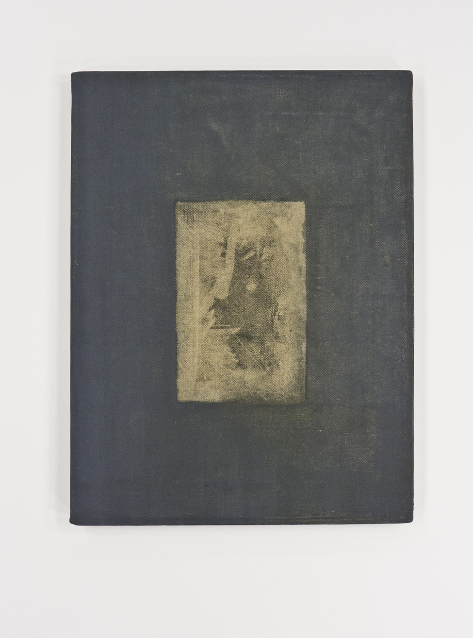 """The Snaps 12; dry pigment sanded canvas with oil; 17 ½ x 11 ¾"""""""