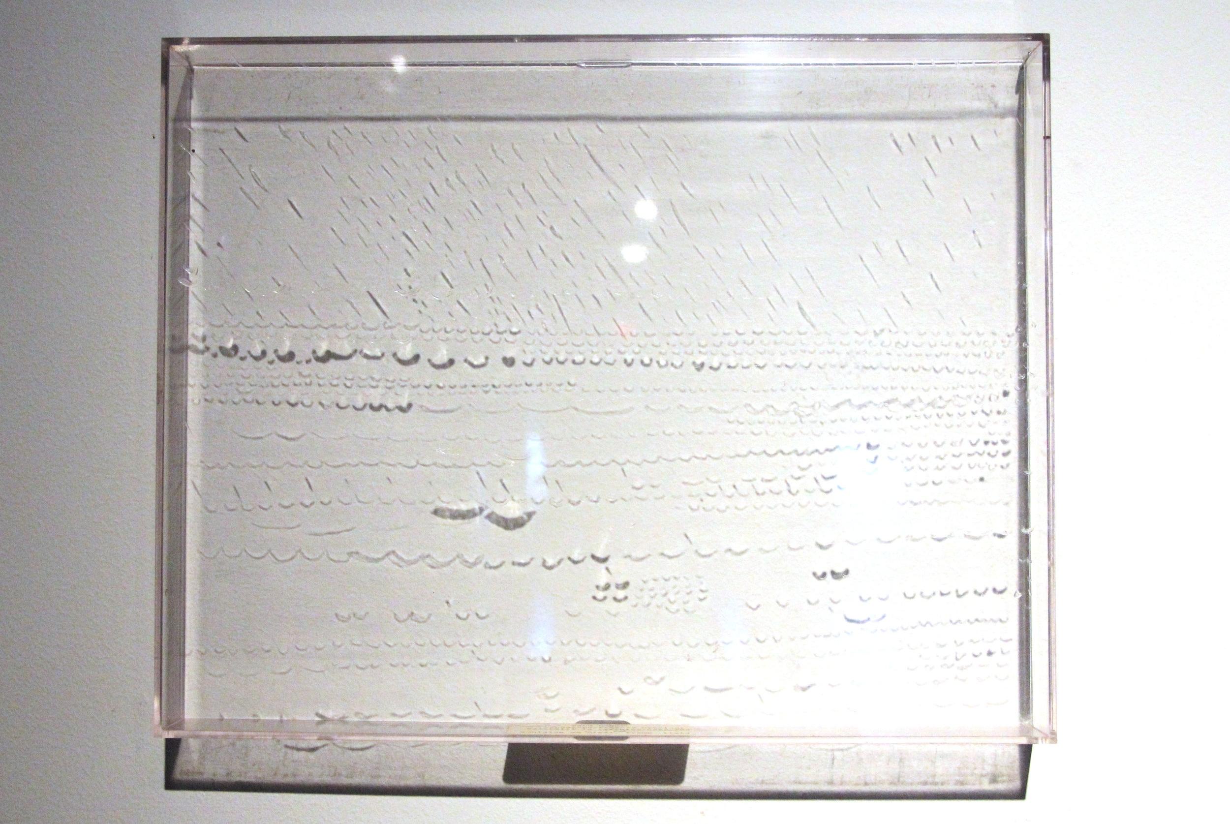 Prosody Drawings  series : Watermill in Pyrrhics/Caesuras , 1973