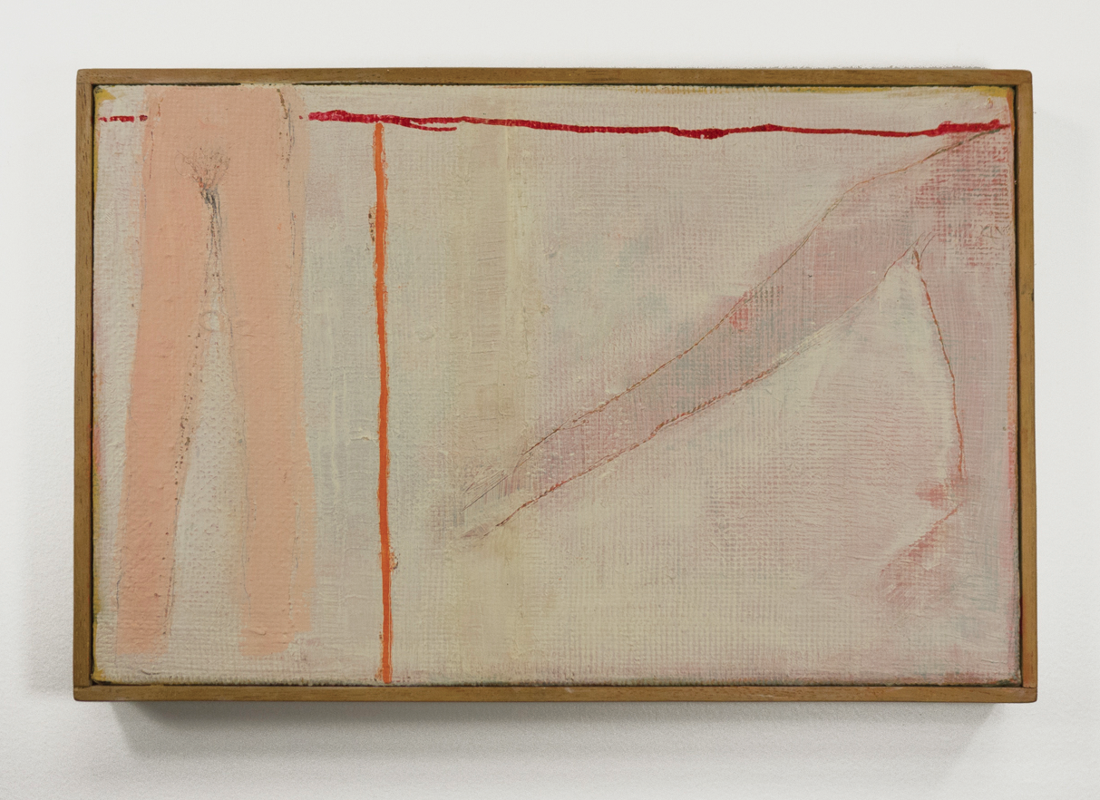 "Orange Running, Red Standing; circa 1963; Oil on canvas; 9 1/8 x 14 1⁄2""; Item #024"