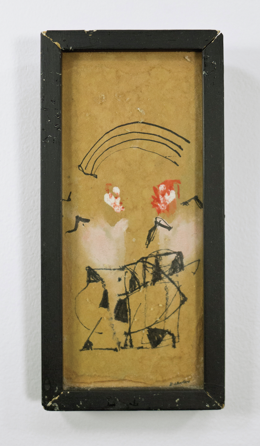 "The Lover; circa 1950; Ink, Casein on paper or board; 5 1⁄2 x 2 1⁄2""; Item #023"
