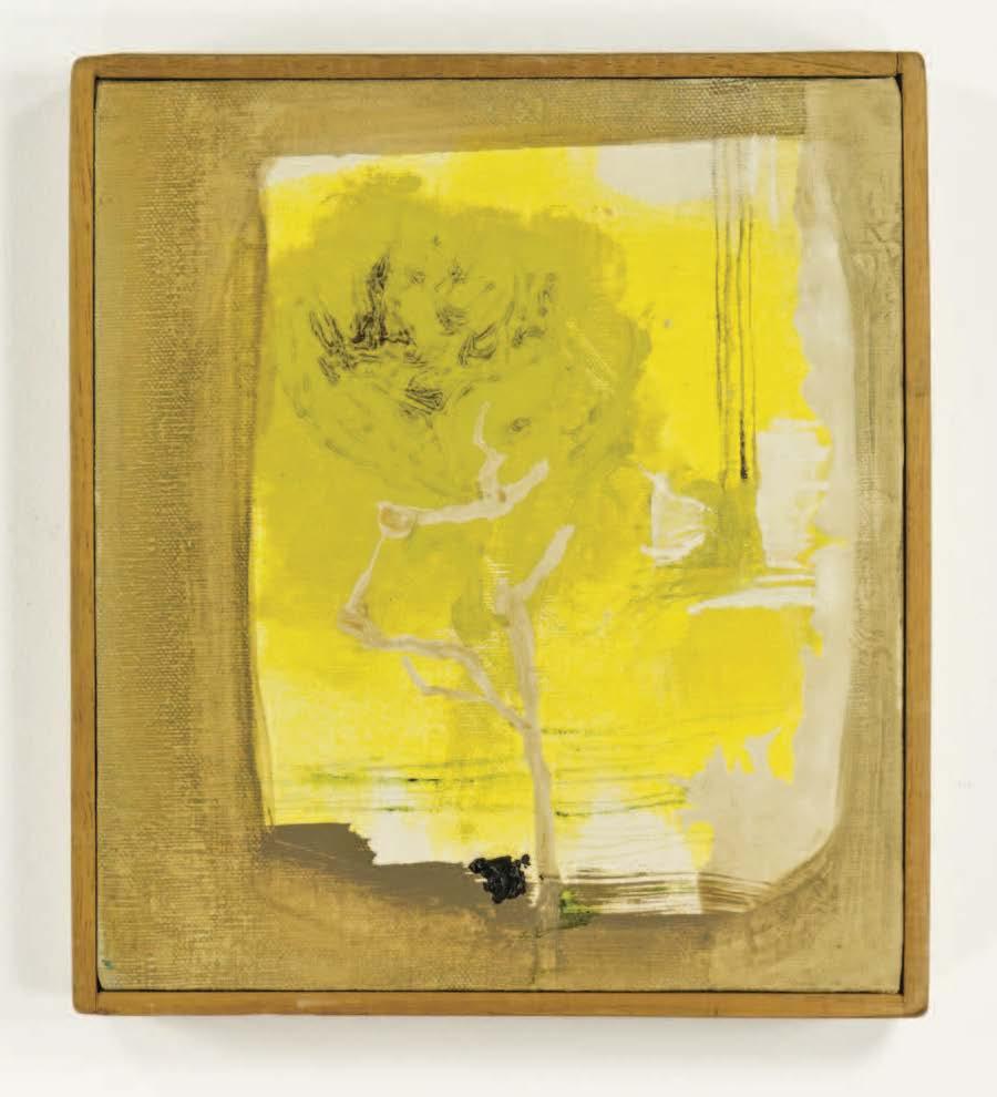 "Lemon Tree after Lorca; 1961; Oil on canvas; 8x9""; Item #034"