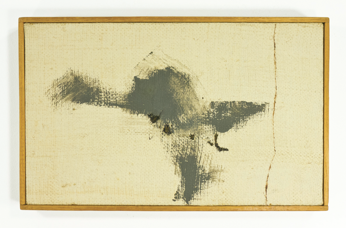 "The Whiteness of the Whale;1959; Oil on hessian; 13 3/8 x 81⁄4""; Item #039"