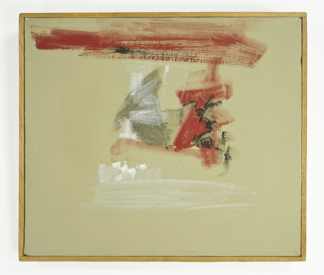 "Ceremony; 1959; Oil and/or Casein on canvas; 13x11""; Item #048"