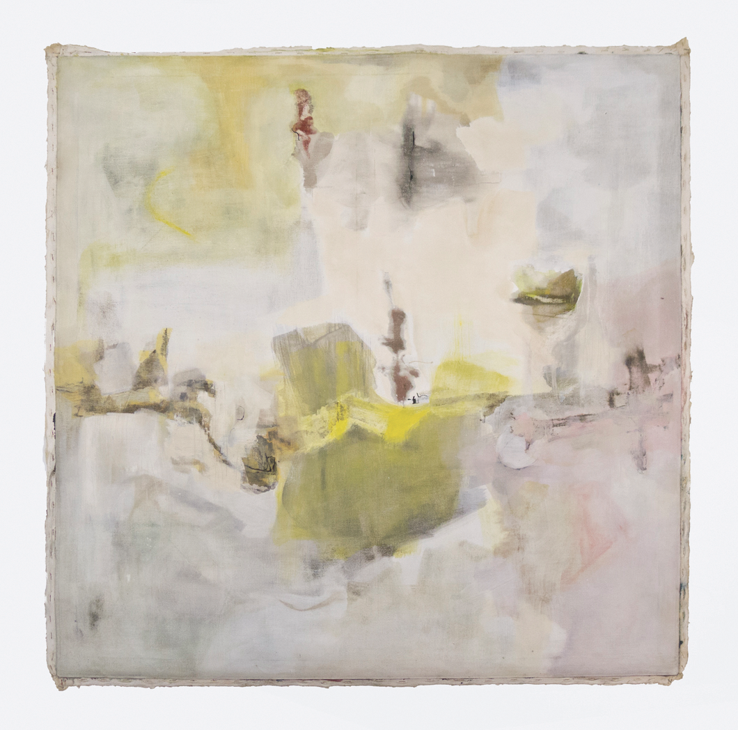 "An Iron Enlightenment; 1960s; Oil and Glaze on canvas; 45x 45""; Item #005"