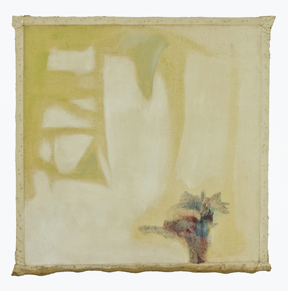 "Old Fragrance from Africa, Removed; No date; Magna and gesso on canvas, 22x22""; Item #012"