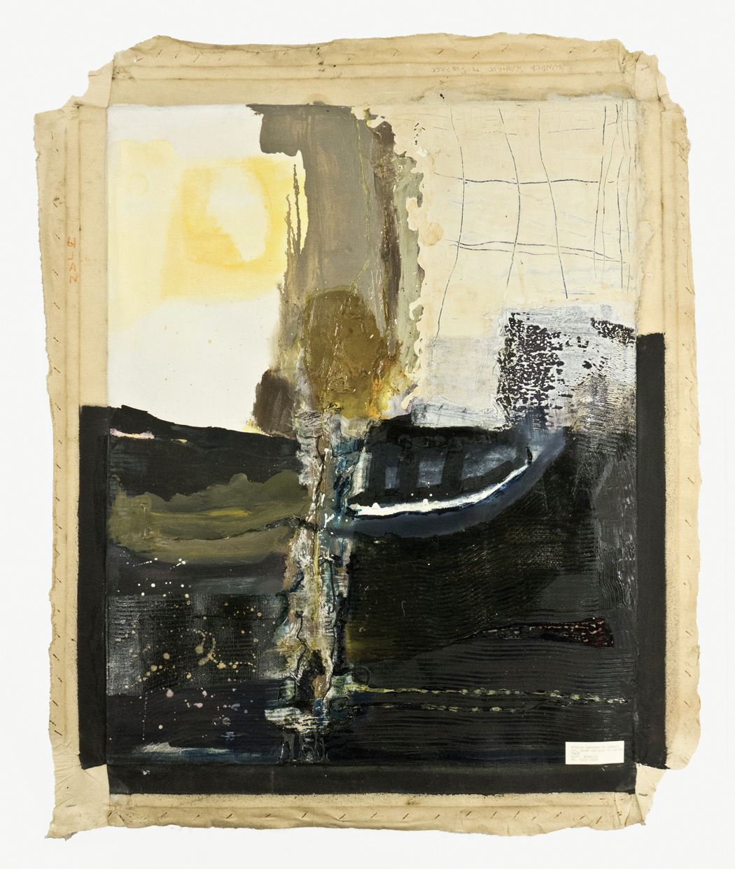 "Wounded Seahorse to Surface; 1962; Oil, Gesso and Glue on Canvas; 68 3⁄4 x 39 1⁄2""; Item #017"
