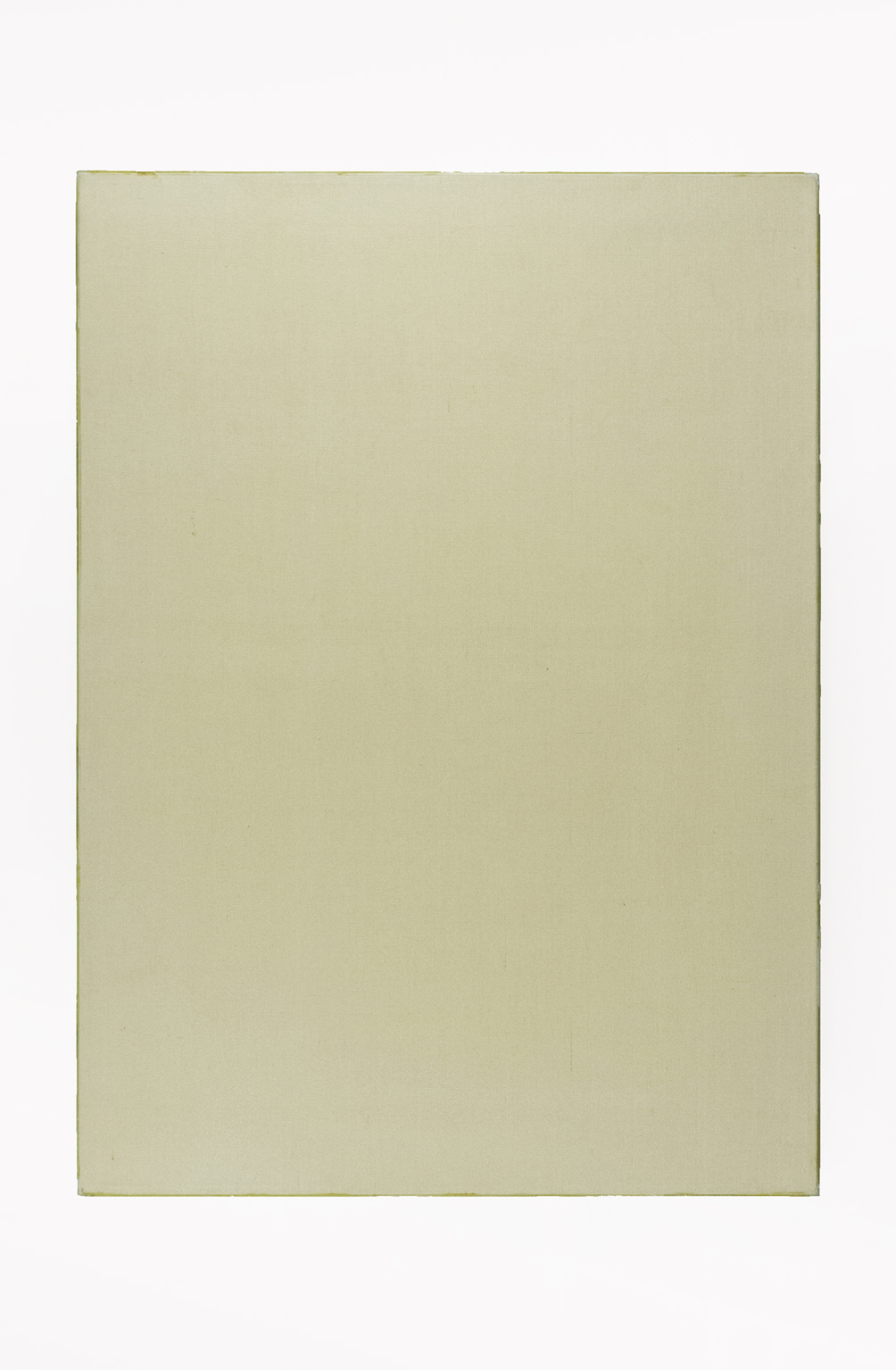 "Portrait of L's Worth; Sized linen with resin fixed glass edges; 36 x 26""; Item #089"