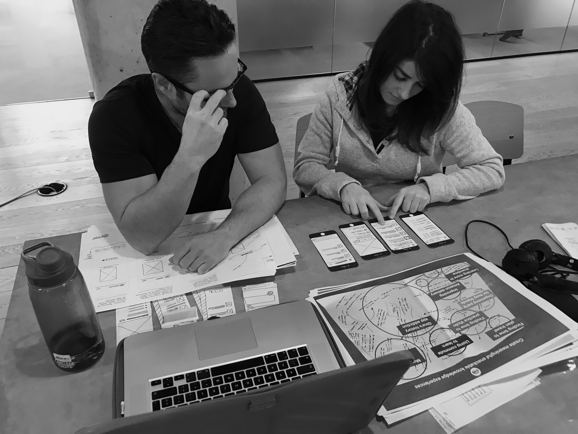Prototyping on paper - Tasks are only meaningful to users who have an understanding of what the app is and does—the scenario was not providing enough context. The low fidelity nature of the prototype was also not helping users orientate themselves.