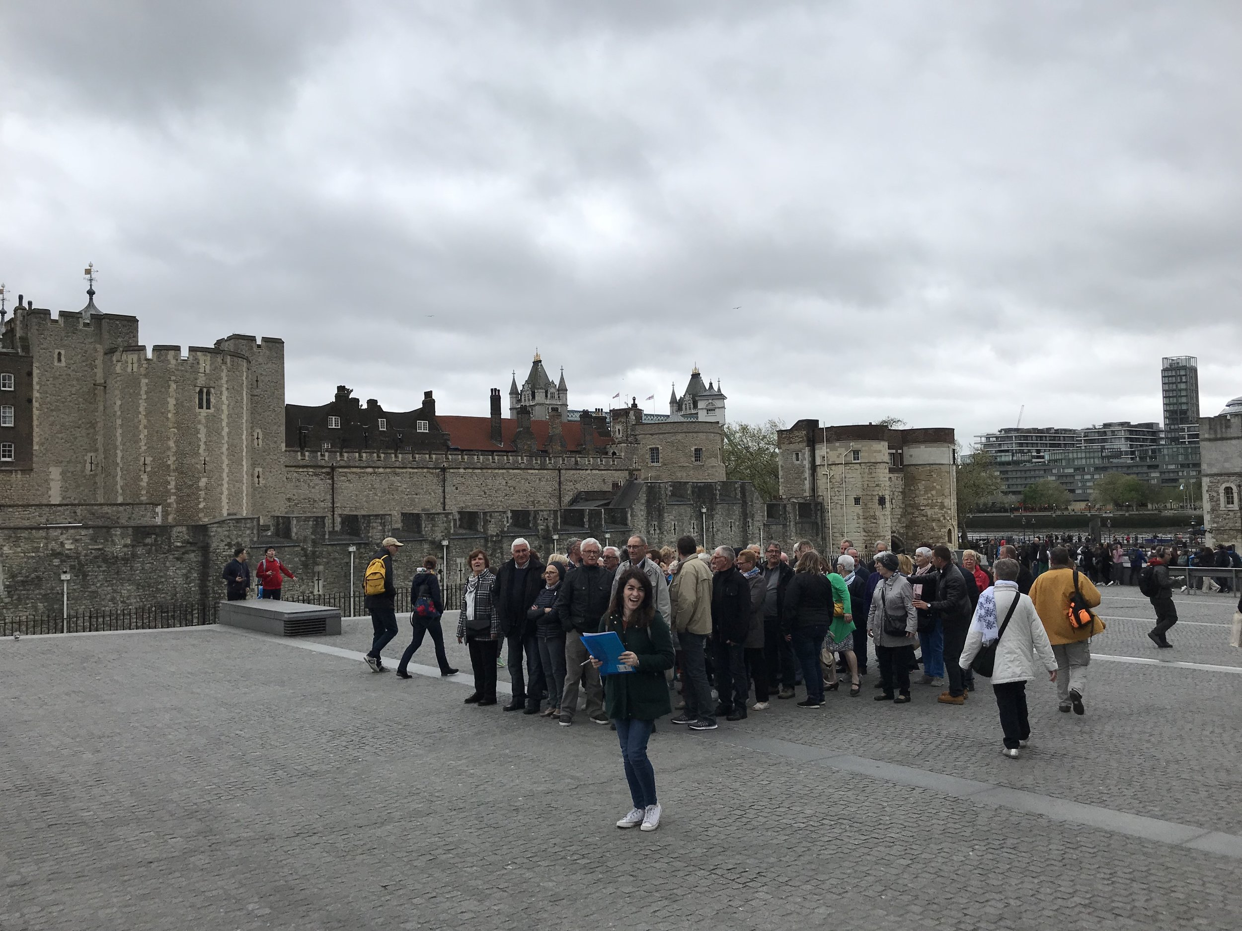 Getting out - At the Tower of London, my colleague Gina and I were able to talk to multiple groups of visitors. I also got a brief history of how group ticket sales had migrated online from the attendant at the group booking window.
