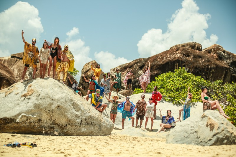 danyelle and tristan pollock's bachelor/ette party in the british virgin islands