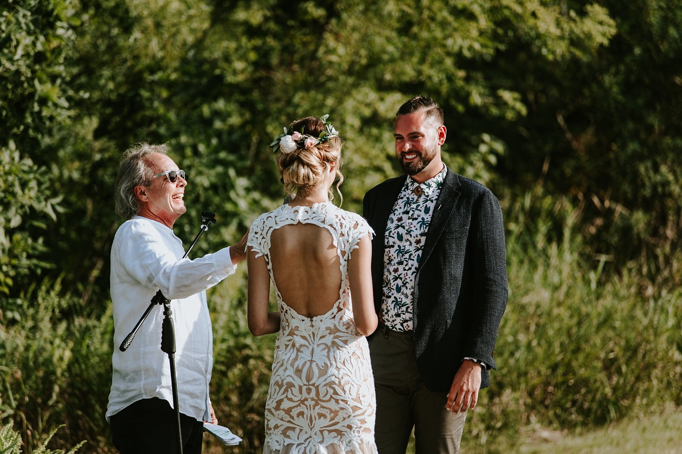 danyelle and tristan pollock say their vows